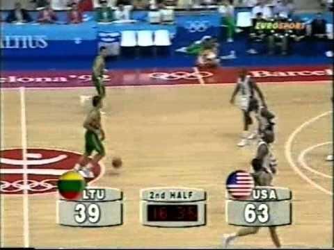 Michael Jordan Shuts Down Sarunas Marciulionis (1992 Olympics) - YouTube