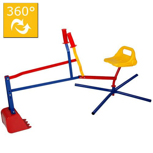 Kids Ride-on Excavator Children Sand Pit Digger Picks Up Soil Gravel Garden Toy #Unbranded