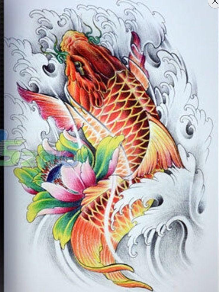 882 best koi images on pinterest japanese tattoos fish for Japanese koi design