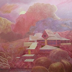 ImaginaryLandscape_Architecture, an artwork done by American artist Hugh O'Mara (style Surrealism)