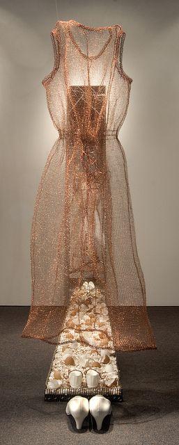 "Carien Quiroga ~ ""Walking on eggshells"" (2009) DETAIL Crochet wire and glass installation carienquiroga.com"