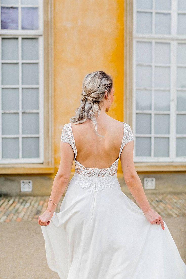 Haare Hochzeit halbhochgesteckt, Ideen Frisur, lange Haare BRautfrisur halb hochgesteckt, Wunderschöne Brautfrisuren für mittellange und lange Haare   Hochzeitsblog The Little Wedding Corner