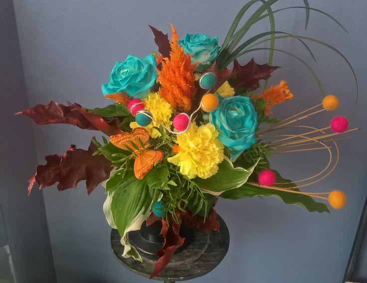 harlecin bouquet from KukkaKaroliina