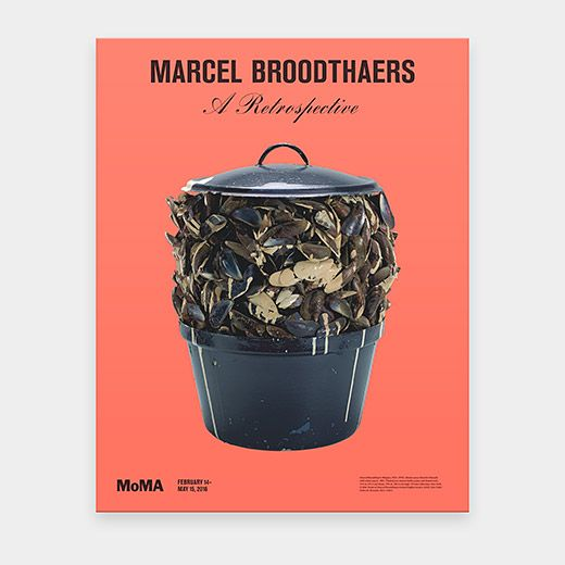 Marcel Broodthaers: Moules Sauce Blanche Poster | MoMAstore.org