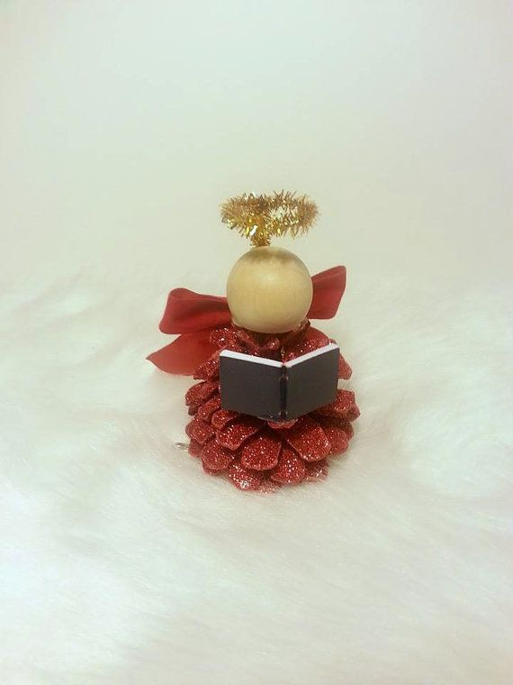 Angel Ornament Christmas Ornament Pinecone by DeerwoodCreekGifts, $8.00
