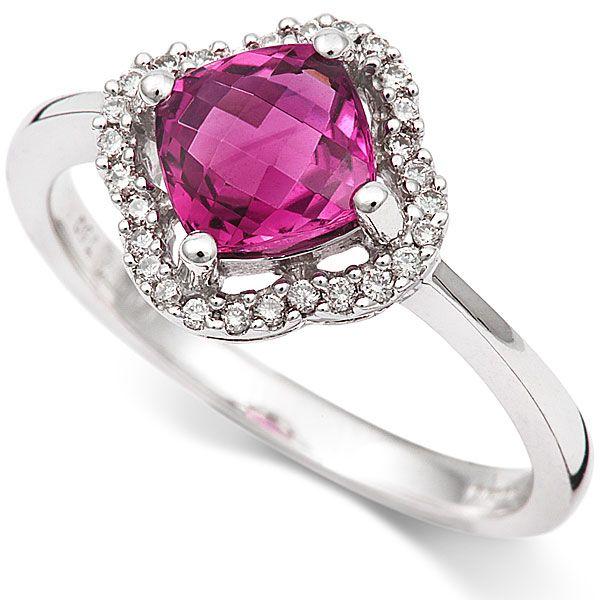 18ct Diamond and Pink Tourmaline Ring - Coolrocks