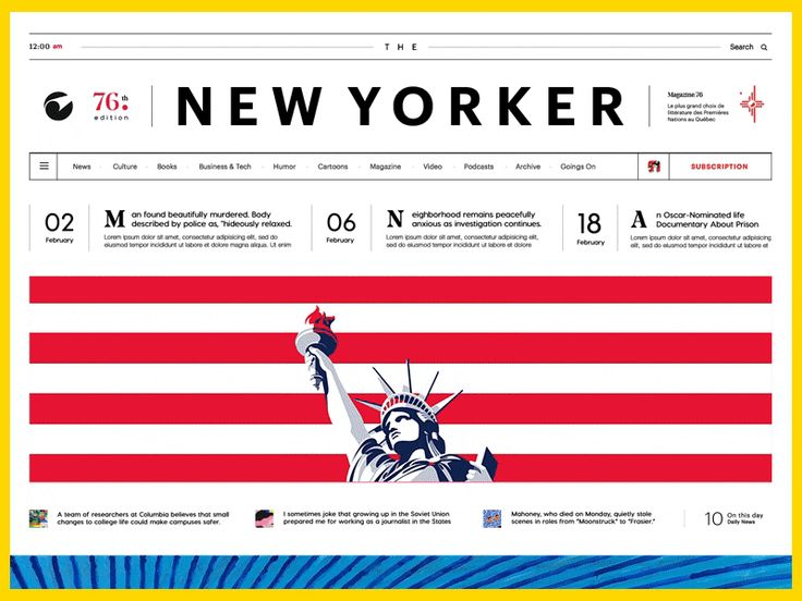 The New Yorker by Otto - Dribbble