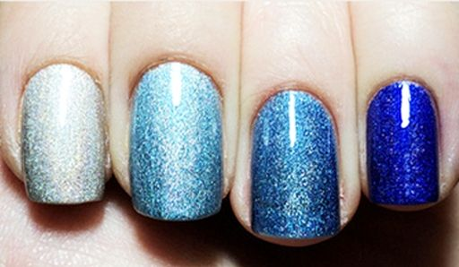 Blue Ombre Nail Polish