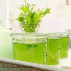 Waldmeistergelee schmeckt fein und erinnert uns an den Frühling im Haus der Großeltern. Auf unserem Blog gibt es ein feines Rezept!