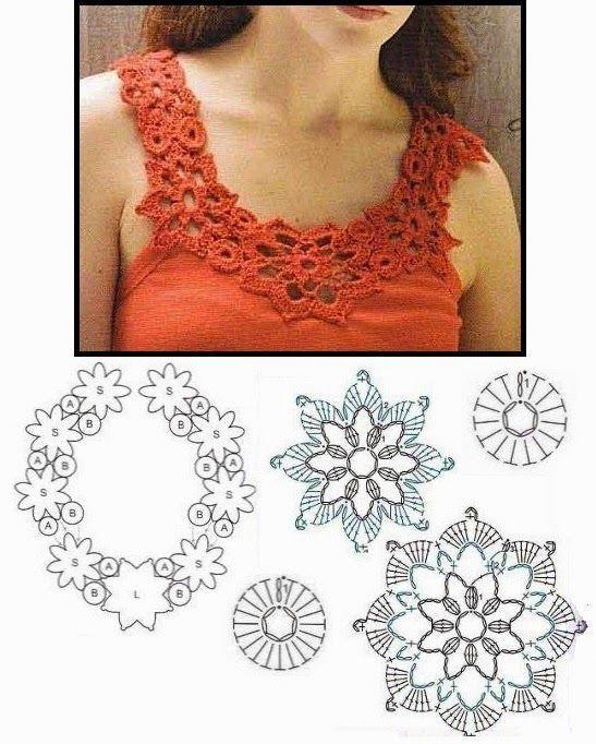 Mejores 3362 imágenes de tejido en Pinterest | Tops de ganchillo ...