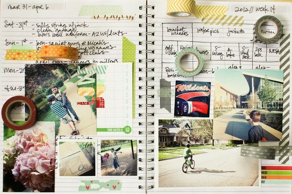 Lisa Truesdell's Captured April 2012 post at 2peas.  Features 18 ways to use Washi tape!: Galleries Originals, Scrapbook Stamps, Class Lessons, Minis Scrapbook, Art Journals Scrapbook, Originals Submit, Washi Tape, Projects Life, Smashbook Ideas