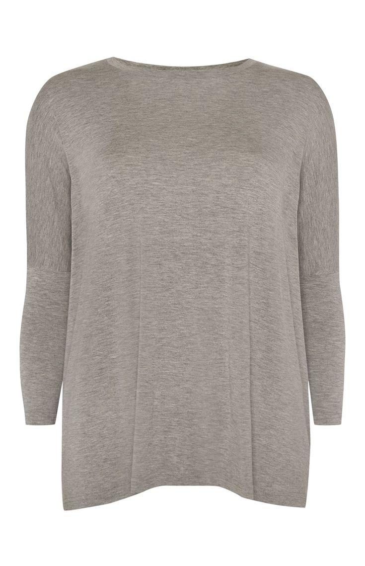 Primark - Wijdvallend grijs shirt