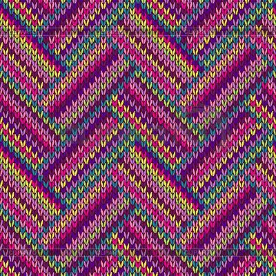 여러 가지 빛깔 원활한 니트 패턴 | 벡터 클립 아트 | ID 4479196