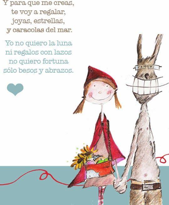 Ilustración Caperucita y Lobo de Beatríz Turueño, texto de Eva Sampedro. www.serifaunpez.blogspot.con.es