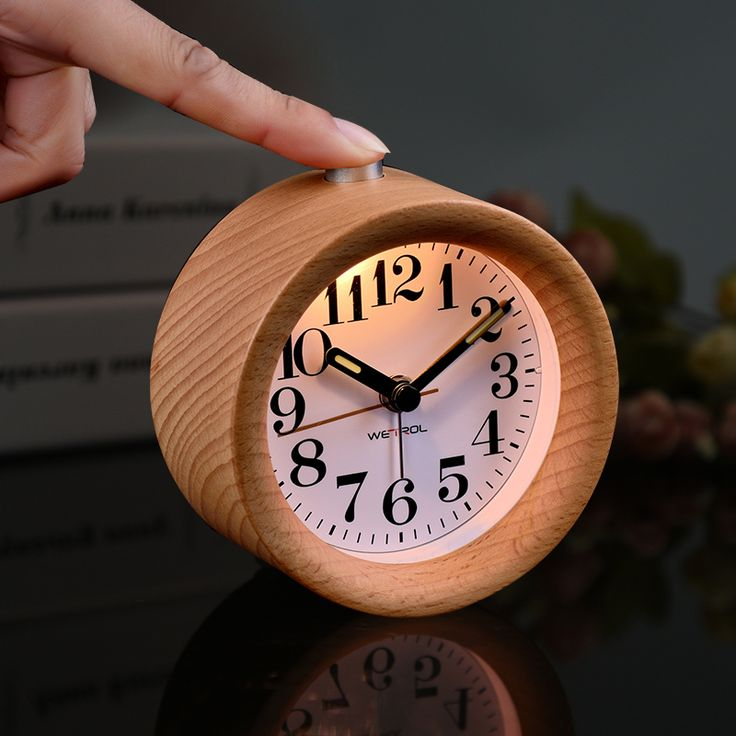 ==> [Free Shipping] Buy Best Wood alarm clock luminous mute bedside clock lounged small wood alarm clock high quality Online with LOWEST Price | 32737720431