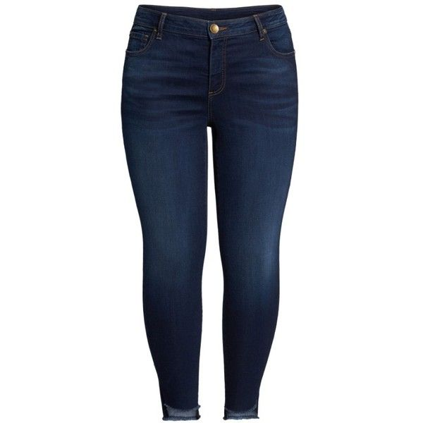 Plus Size Women's Kut From The Kloth Connie Step Hem Skinny Ankle... ($99) ❤ liked on Polyvore featuring jeans, pants, stretch blue jeans, stretch jeans, blue jeans, stretchy skinny jeans and stretchy jeans