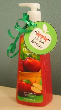 "First Day of School Teacher Gift:  ""Apple"" For The Teacher from Home Confetti"