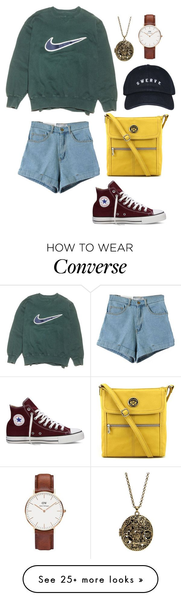 """""""Untitled #405"""" by whitep on Polyvore featuring NIKE, Converse, Relic, Daniel Wellington, women's clothing, women's fashion, women, female, woman and misses"""