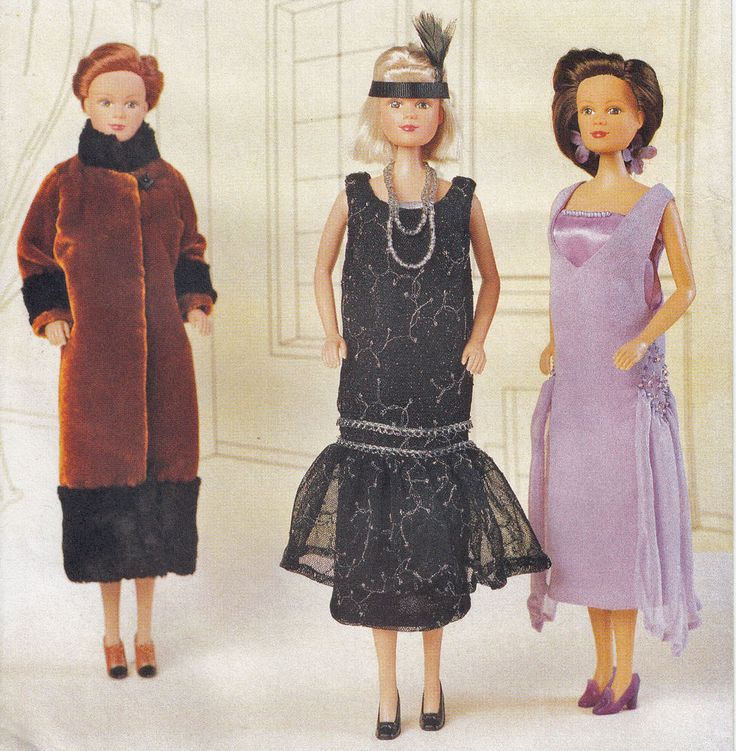 11 1/2  Fashion Doll Clothes 1925 Delineator Girls Flapper UNCUT Sewing Pattern