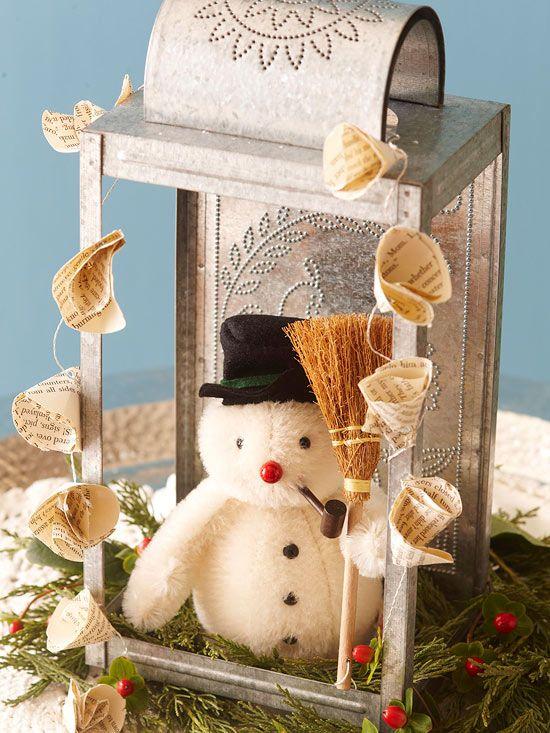 Rustic Snowman Decoration
