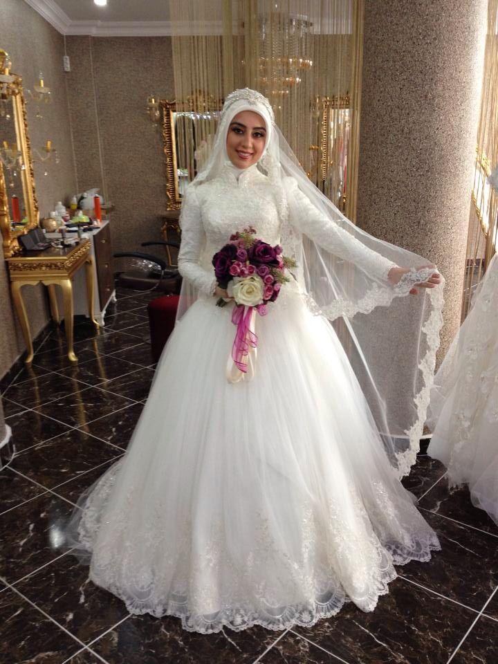 Tesettür gelinlik hijab wedding dress