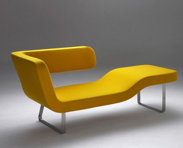 Yellow Lounger by Rene Sulc #furnituredesign