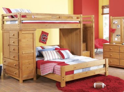 Creekside Taffy Twin Full Step Bunk Bedroom W Chest Want