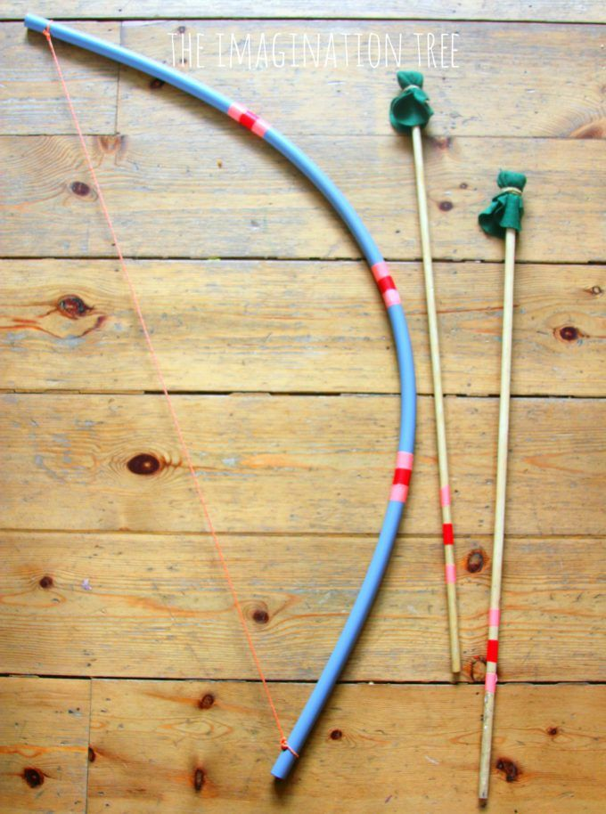 DIY bow and arrow for kids