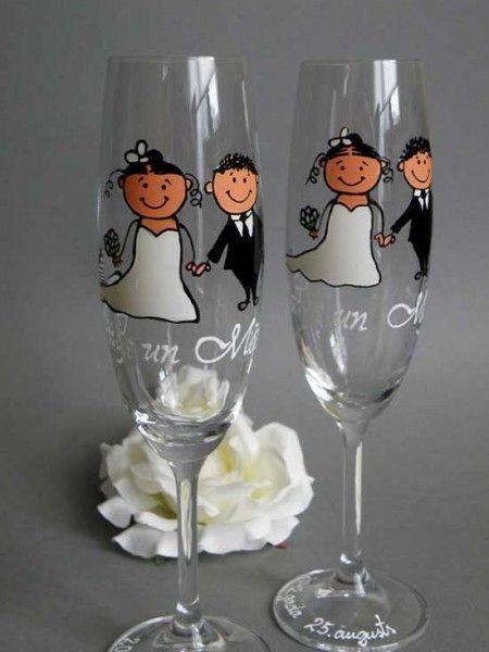 Bicchieri personalizzati per brindisi degli sposi. Wedding glasses. #wedding