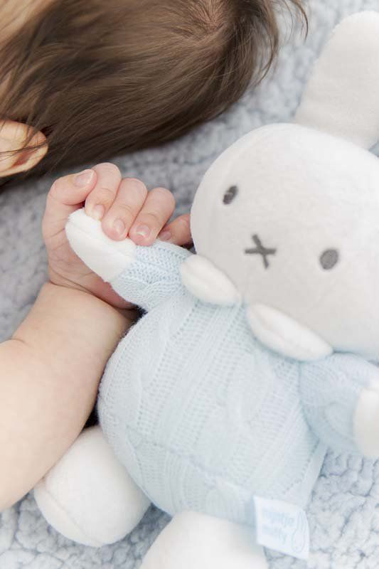 TIAMO Plyšový chrastící zajíček Miffy modrý | Kašpárek Baby