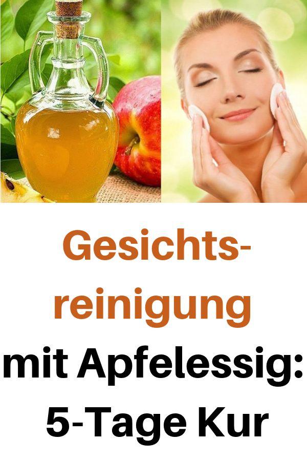 Gesichtsreinigung mit Apfelessig: 5-Tage-Kur # Gesichtsreinigung #Apfelessig   – Schönheitspflege