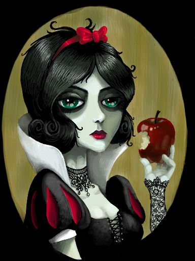 GOTH dark glamour ✤ :: Gothic Snow White Illustration
