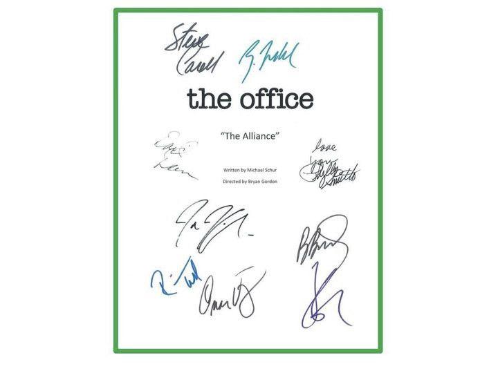 "The Office ""The Alliance"" TV Script Screenplay Autographed: Steve Carell, John Krasinski, Jenna Fischer, Rainn Wilson, B.J. Novack"