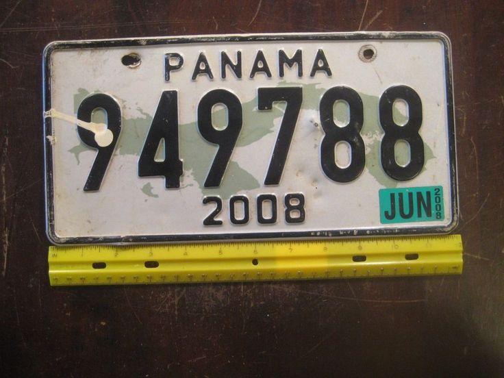2008 Panama License Plate 949788 License plate, Plates