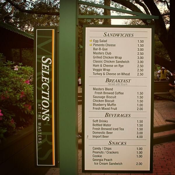 How To Eat Every Item On The Masters Concession Menu In One Day Without Dying