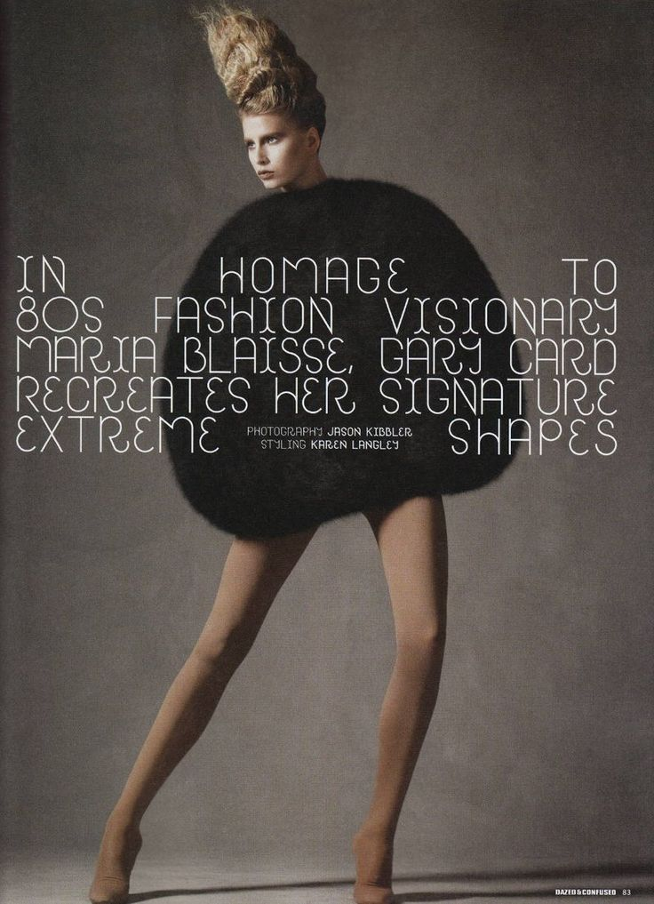 In Homage To 80s Fashion Visionary Maria Blaisse, Gary Card Recreates Her Signature Extreme Shapes (Dazed & Confused)
