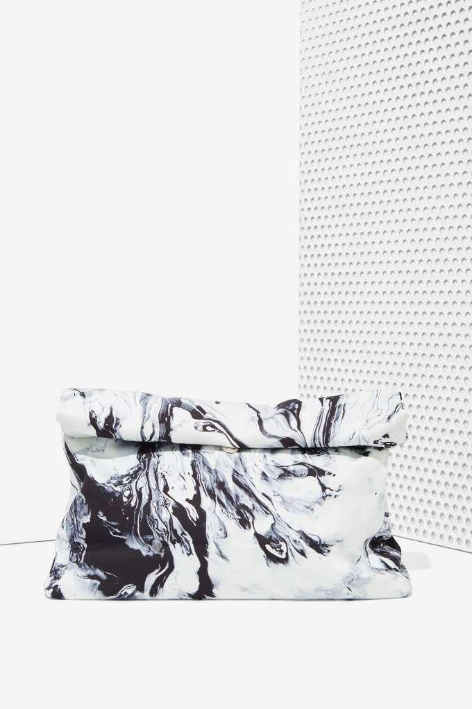 Marble Print Clutch