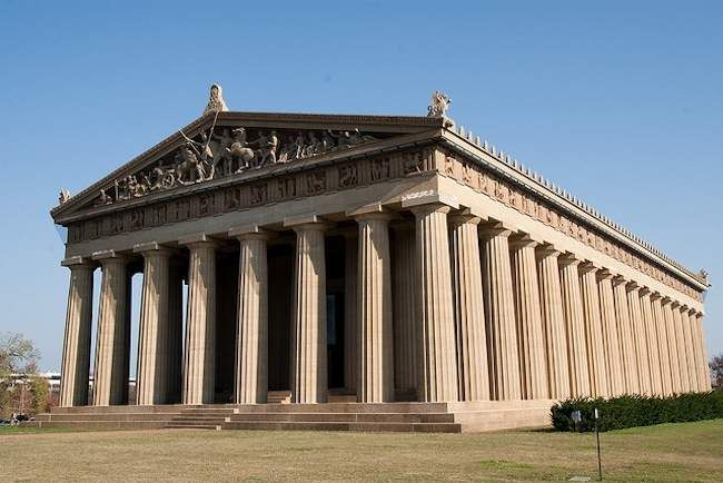 15 of the world's best replica landmarks -- photo is of the Parthenon in Nashville, TN