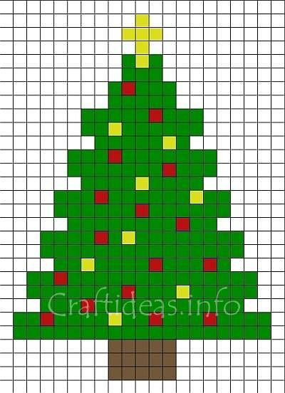Fuse Beads Christmas Tree Pattern 400