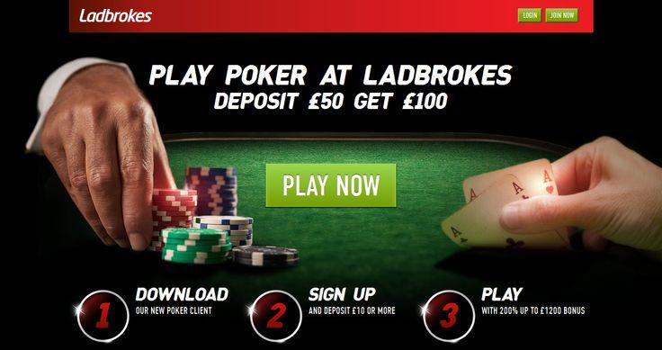 Ladbrokes Poker Promotion: Deposit £50 Get £100