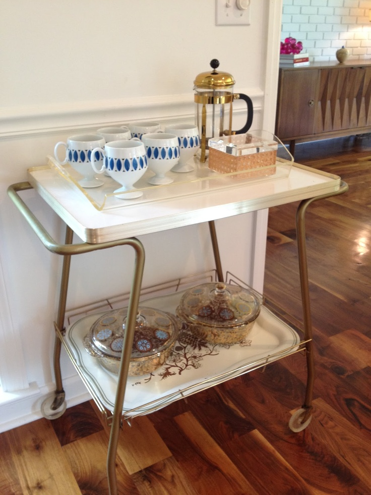 38 best bar carts and coffee carts for home images on for Coffee cart for home