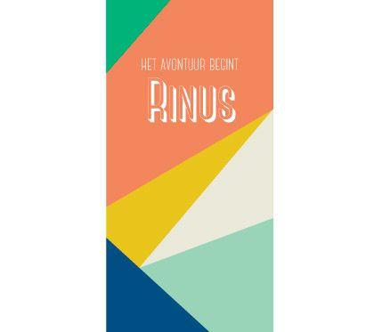 Geboortekaartje Rinus