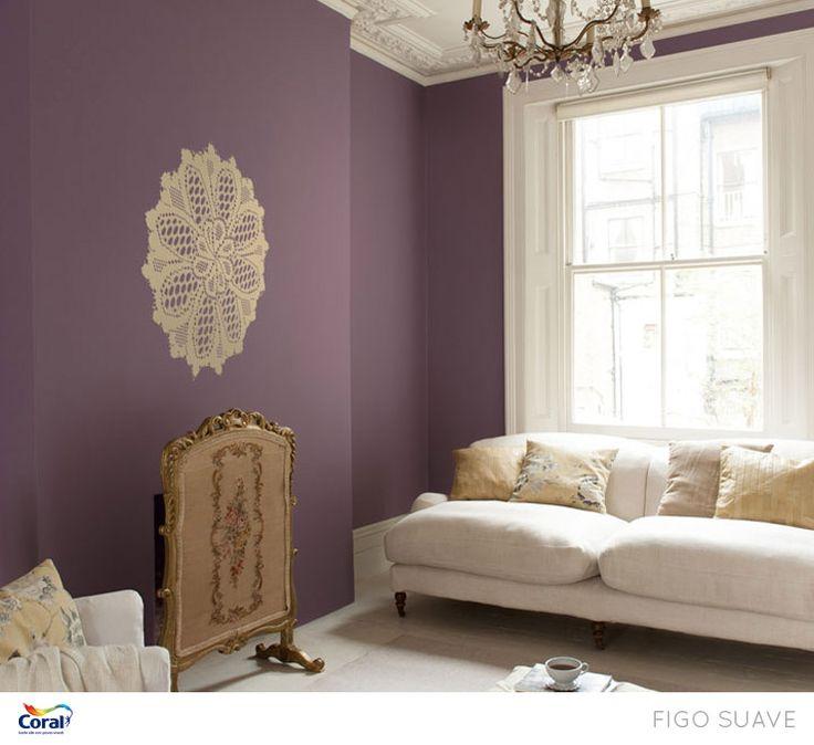 Roxo Sofisticado. Wandfarbe FarbtöneWandfarbenWg ZimmerFarbgestaltungTapetenInneneinrichtungEinrichten  ...