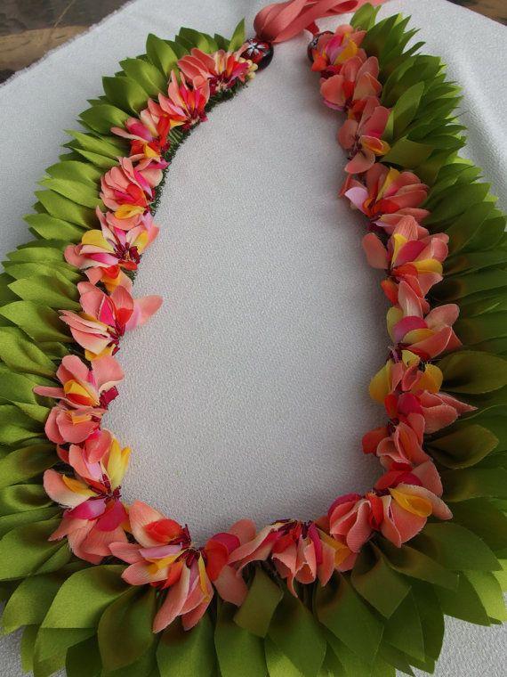Tongan ribbon flat  lei