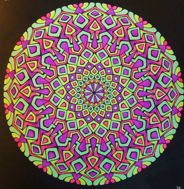 Kaleidoscopes 38 done with gelpens