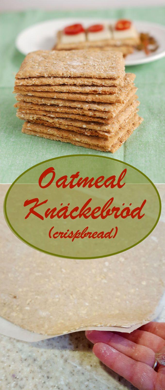 Homemade Oatmeal Knäckebröd (Crispbread) is unbelievably delicious, nutritious and surprisingly easy to make. #Breadbakers