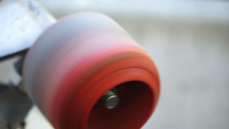 skateboard wheels spinning