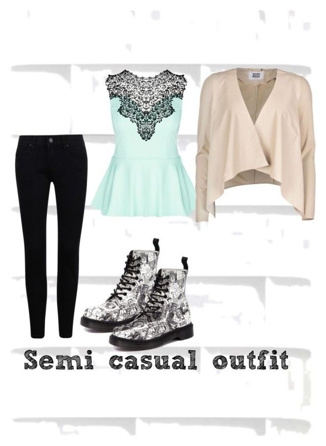 """""""Semi casual outfit"""" by casey2539 ❤ liked on Polyvore featuring City Chic, Vero Moda and Dr. Martens"""