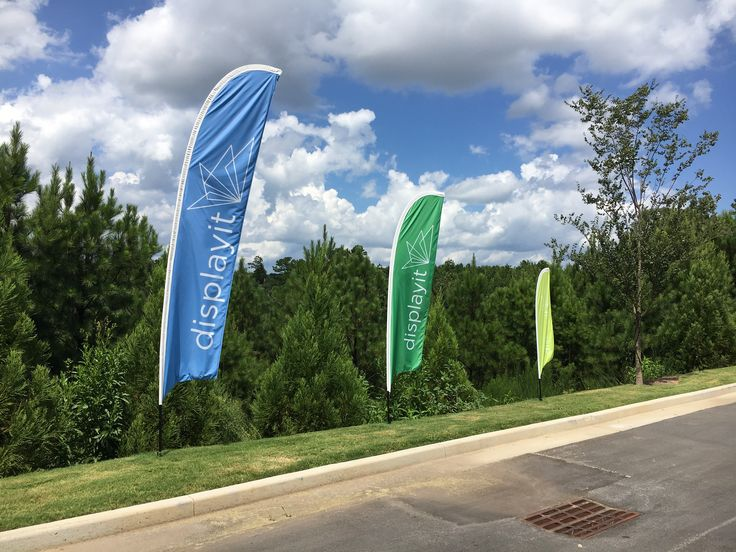 Feather Flags for inside or outdoor use.