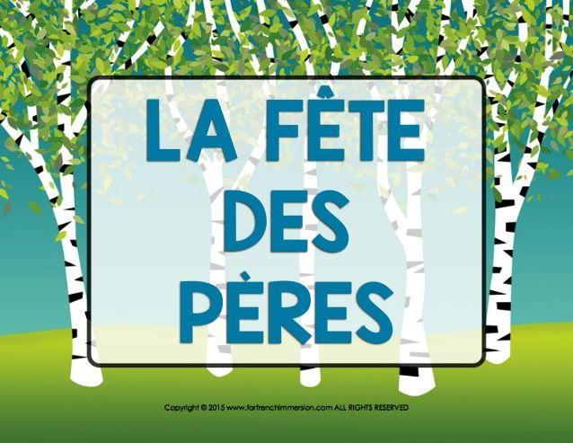 Fête des pères - French Father's Day